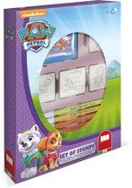 Multiprint Paw Patrol - box - 4 stempels + 7 viltstiften
