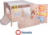 Lionelo Stella - kinder reisbox met zacht matrasje en klamboe en draagtas beige