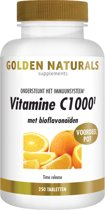 Golden Naturals Vitamine C-1000+ - 250 Tabletten - Vitaminen
