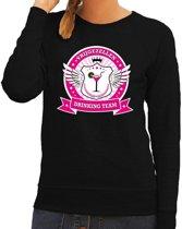 Zwart Vrijgezellen drinking team sweater dames L