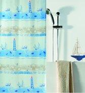 Spirella Nave - Douchegordijn - Blauw - Polyester - 200 x 180 cm