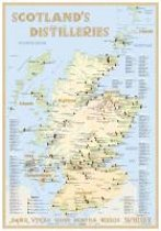 Whisky Distilleries Scotland - Tasting Map 24x34cm