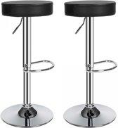 TecTake barkruk - Set van 2 barkrukken barstoel kruk verstelbaar - 401562