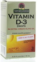 Natures Answer Vitamine D3 4000 IU  (15ml) 240 druppels