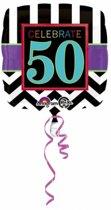 Folie ballon 50 jaar 43 cm - 50ste verjaardag Helium ballon
