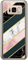 Samsung Galaxy S8 siliconen hoesje - Marble stripes
