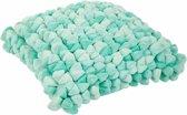 Haans Lifestyle Kussen Pebble mint - groen - 45cm
