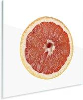 Studio shot dwarsdoorsnede grapefruit Plexiglas 80x60 cm - Foto print op Glas (Plexiglas wanddecoratie)