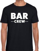 Bar crew tekst t-shirt zwart heren - evenementen staff / personeel shirt XL
