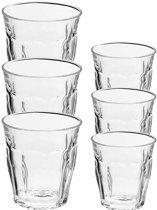 Drinkglazen/waterglazen Picardie set transparant 220/250 ml - 12-delig - koffie/thee glazen