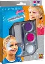 SES Clowny schmink met glitter