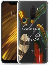Xiaomi Pocophone F1 Hoesje Feathers World
