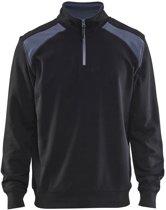 Blaklader Blåkläder 3353 Sweatshirt Bi-Colour met halve rits Zwart/Grijs S