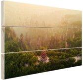 Zhangjiajie Nationaal Park Hout 120x80 cm - Foto print op Hout (Wanddecoratie)