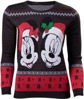Difuzed Disney Kersttrui Mickey & Minnie Maat XL - Zwart