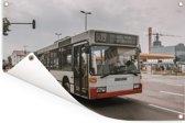 Een morderne Duitse stadsbus Tuinposter 60x40 cm - klein - Tuindoek / Buitencanvas / Schilderijen voor buiten (tuin decoratie)