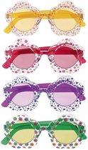 Hippie bril voor volwassenen  geel