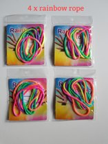 Original rainbow rope - regenboog touw - magic trics ztrings 4 stuks