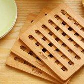 Panonderzetter - Bamboe - 3 stuks - Vierkant