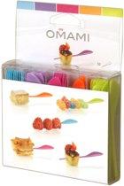 Omami - Spiesjes color 9cm, 50st, 5kl.