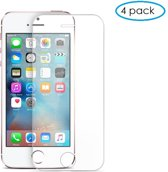 4 Pack - Glazen Screen protector Tempered Glass 2.5D 9H (0.3mm) voor iPhone 5/5s/5c/se