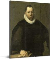 Pieter Jansz Kies - Schilderij van Cornelis Cornelisz van Haarlem Aluminium 30x40 cm - klein - Foto print op Aluminium (metaal wanddecoratie)
