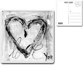 Metalen kaart 15x15cm Love you - 107141122016