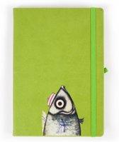 Biggdesign Love Kladblok | Metalen deksel | Pocket Kalender | Speciaal kunstenaarontwerp | Ongevoerd ongedateerd blad | 10x15 cm | Tweekleurig vel | Origineel geschenk | 130 bladeren