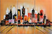 Handgeschilderd Canvas 3-luik New York