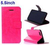 PU Leren Wallet Standaard iPhone 6(s) plus - Roze