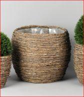 Rasteli Bamboe rieten mand met binnenhoes D 35 H 32 Diam. opening 28