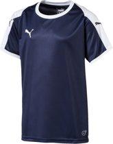 Puma Liga  Sportshirt - Maat 164  - Unisex - donker blauw/wit