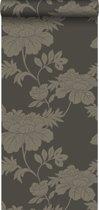 Origin behang bloemen bruin - 345925 - 53 x 1005 cm
