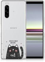 Telefoonhoesje met Naam Sony Xperia 5 Cat Good Day