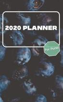 2020 Planner For Purse: January 2020 - December 2020 - Monthly Dated With Year At A Glance and Notes Pages (Gift Calendar) (Blueberries)
