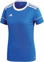adidas Squad 17 SS Jersey Teamshirt Dames Sportshirt performance - Maat L  - Vrouwen - blauw/wit