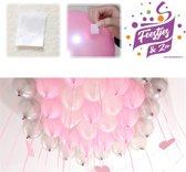 100 stuks ballon clip/ ballon hanger per rol. geen dure Helium meer kopen