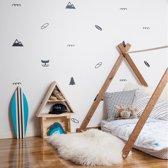 Muursticker set figuren divers - scandinavisch | babykamer - kinderkamer - speelkamer |  hip - modern