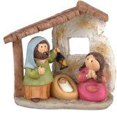 Kinder kerststal met 8 kerst figuren - kerststallen