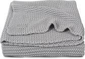 Jollein Heavy knit- Deken -100x150cm- lichtgrijs