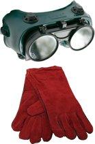 Skandia lasbril opklapbaar + lashandschoenen XL