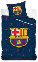 FC Barcelona - Dekbedovertrek - Eenpersoons - 140x200 cm + 1 kussensloop 70x80 cm - Multi kleur