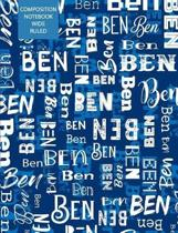 Ben Composition Notebook Wide Ruled