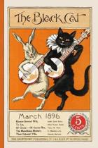 The Black Cat March 1896 5 Cents: Vintage Halloween Ephemera Lined Notebook And Journal