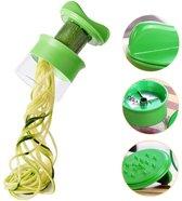 Spiraalsnijder - Groente Spaghetti + Inclusief Knoflookperser - Kleine Rasp - Groen