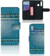 Huawei P Smart Plus (2019) Wallet Case met Pasjes Jeans