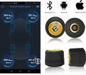 TPMS Bluetooth 4.0 Universele Externe Auto Motorfiets Bandenspanningsensor Monitor Systeem Gratis APP set van 4 stuks
