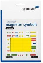 Whiteboardmagneten Symbolen 10mm Geel
