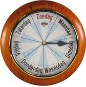 Analoge dementie / alzheimer kalenderklok met dagnotitie -