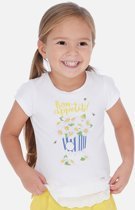 Mayoral S/S sunflower shirt white yell
